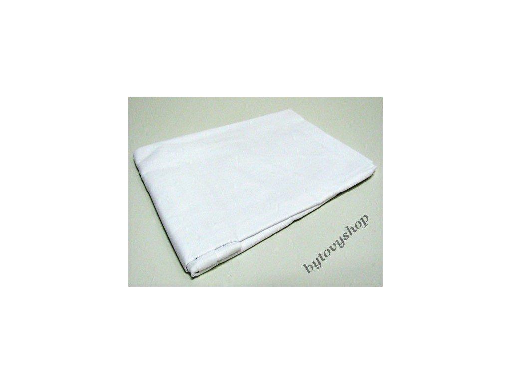 Prostěradlo bavlna  plátno Bílé 140x225