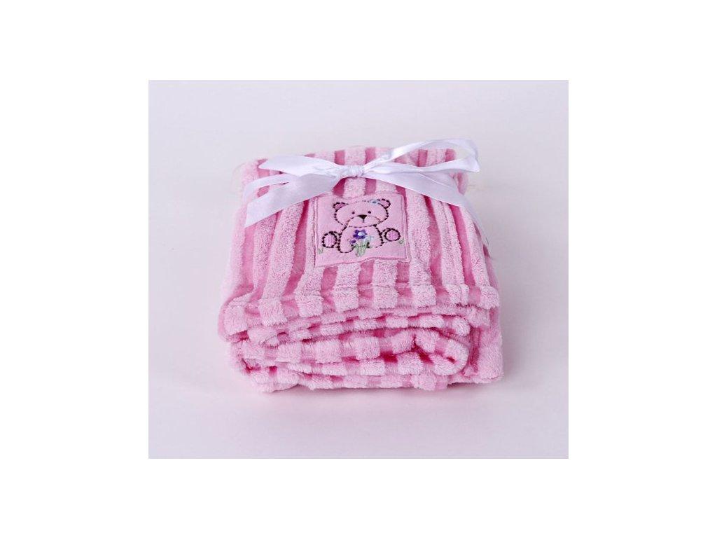 Dětská deka z mikrovlákna ružová   80x100
