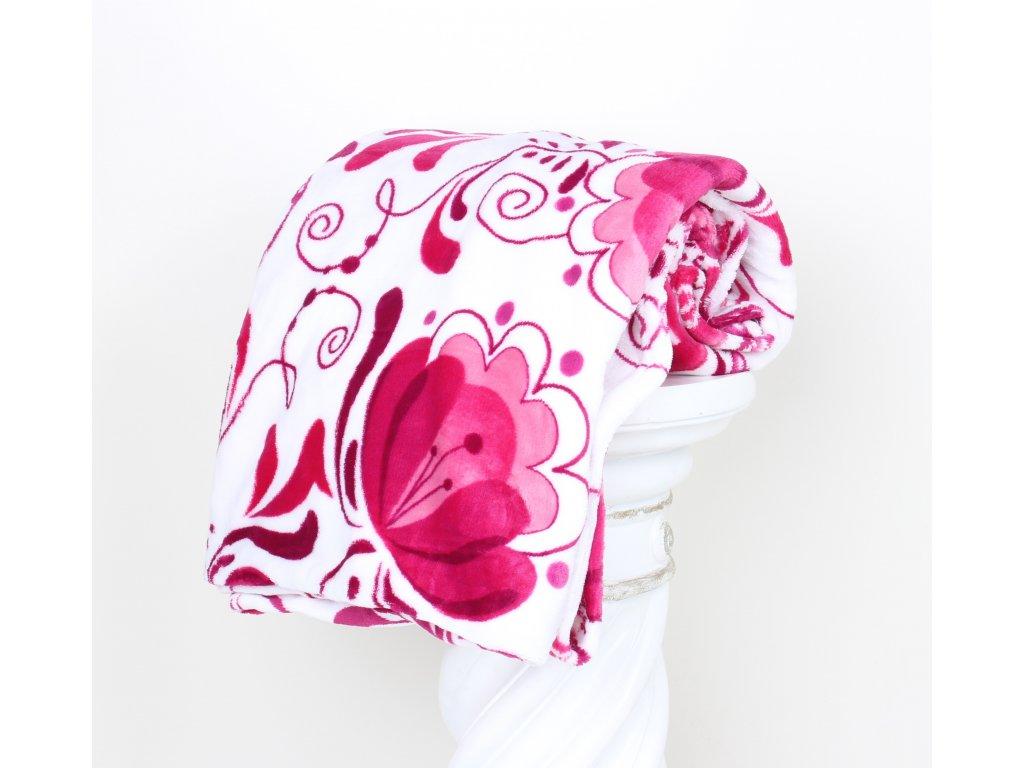 DEKA  MIKROFLANEL CIBULÁK - růžový 150x200