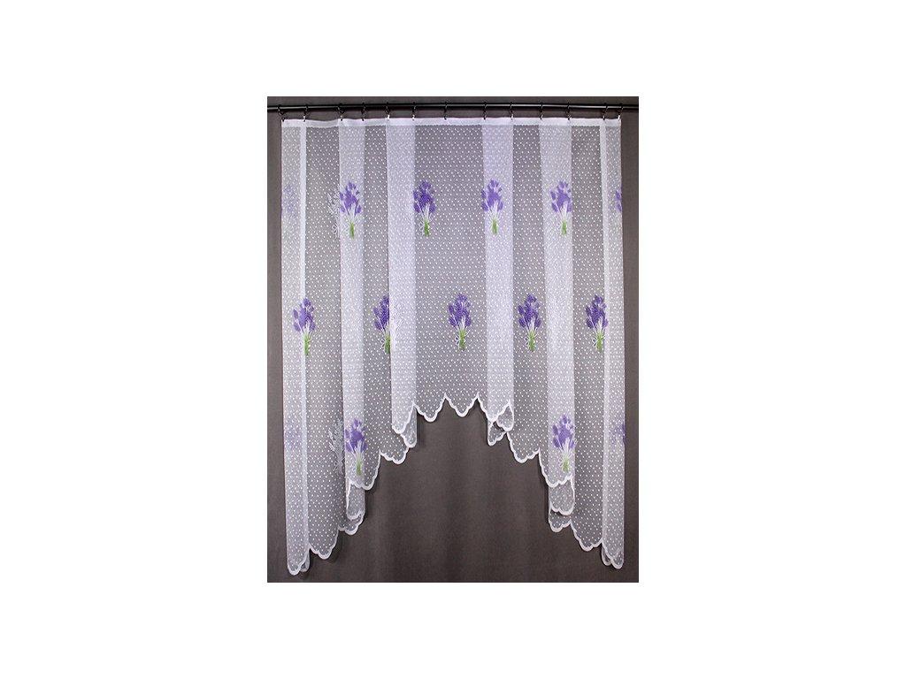 Hotová oblouková záclona levandule