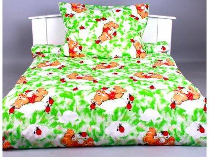 Písecké lůžkoviny bavlna povlečení  Beruška zelená  90x135, 45x65