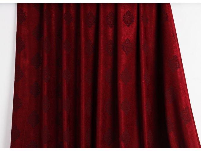 Sametová dekorační látka BORDO 310cm