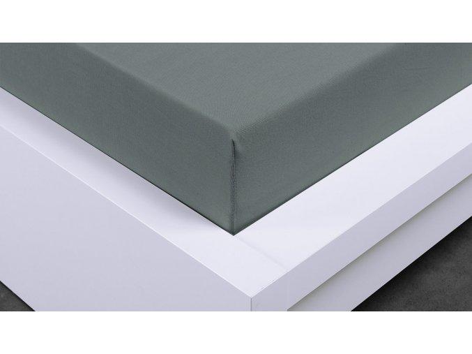 Jersey prostěradlo Exclusive dvoulůžko - tmavě šedá 180x200 cm
