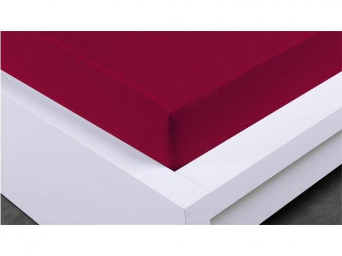 Jersey prostěradlo Exclusive jednolůžko - bordó 90x200 cm