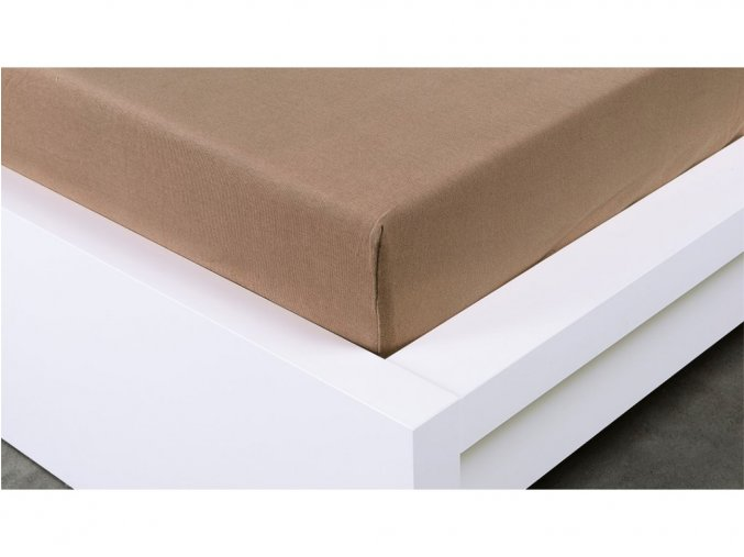 Jersey prostěradlo Exclusive jednolůžko - hnědá 90x200 cm