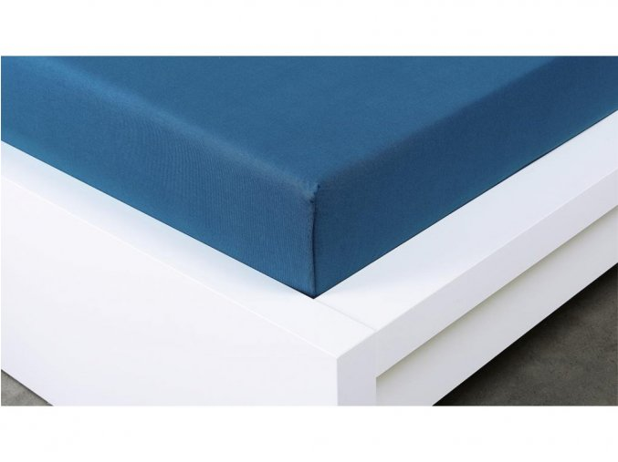 Jersey prostěradlo Exclusive dvoulůžko - tmavě modrá 180x200 cmm