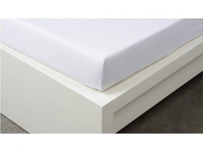 Jersey prostěradlo Exclusive dvoulůžko - bílá 200x220 cm