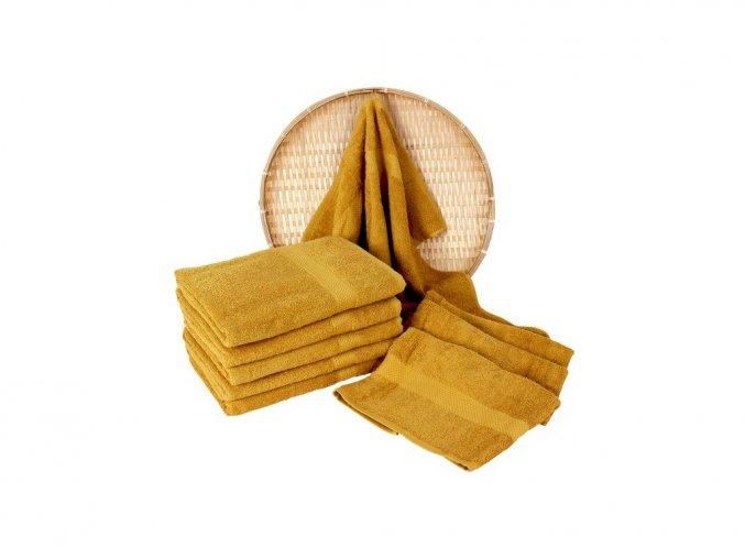 Darsi froté ručník horčicový 50x100