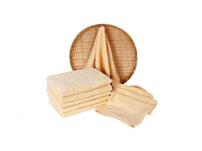 Darsi froté ručník vanílková 50x100