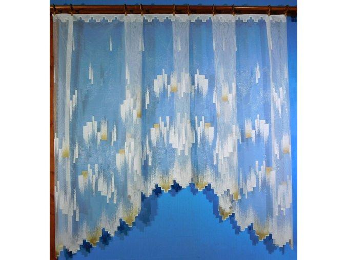 Hotová oblouková záclona BARBARA hnědá
