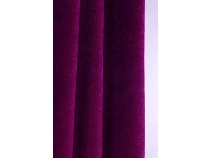 Samétová dekorační látka na závěsy nebo čalounění FIALOVÁ   140cm
