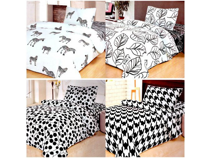 Povlečení   LUXUX  Black & White 200x220, 70x90