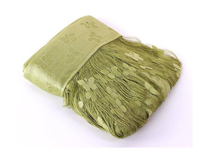 Ambiance záclona provázková oblouk, zelená, šíře 300, výška 160cm