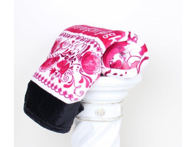 Deka mikroflanel  CIBULÁK - růžový  200x230 cm