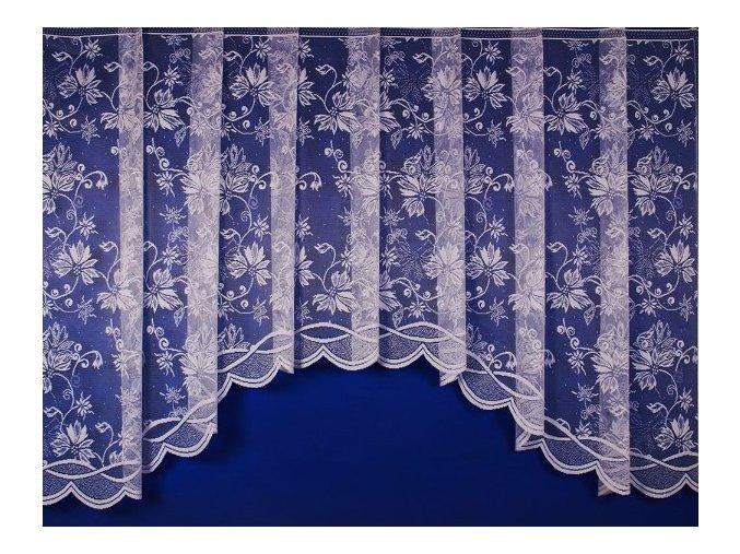 Hotová oblouková záclona KVĚTINOVÝ ORNAMENT  430 x 160 cm