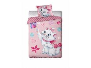 Povlečení Disney Marie Cat motyl  140x200,70x90