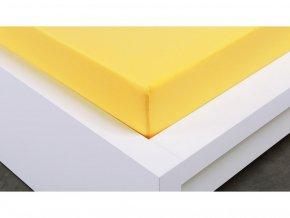 Jersey prostěradlo Exclusive dvoulůžko - žlutá 140x200 cm
