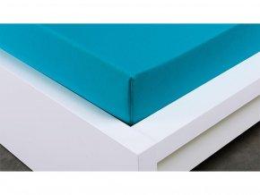 Jersey prostěradlo Exclusive dvoulůžko - tyrkysová 200x220 cm