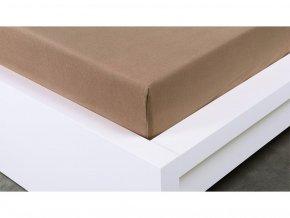 Jersey prostěradlo Exclusive dvoulůžko - hnědá 200x220 cm