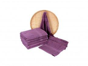 Darsi froté ručník fialová 50x100