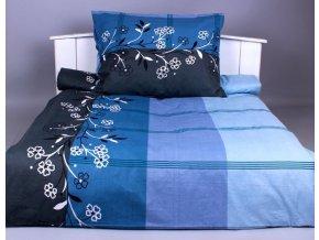 Xpoze bavlna povlečení  ADINA modrá 140x220, 70x90
