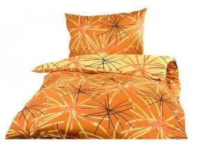 Xpoze bavlna povlečení SOFIA DUO oranžová 140x220, 70x90