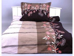 Xpoze bavlna povlečení prodloužené  ADINA  šedá  140x220, 70x90