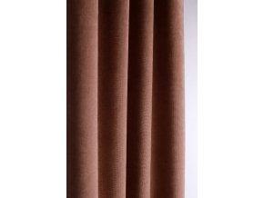 Samétová dekorační látka na závěsy nebo čalounění BEŽOVÁ  140cm