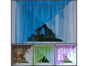 Záclona kusová Lístečky  350x150