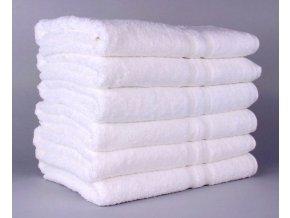 Hotelové ručníky bílé  50x100
