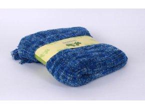 Španělská deka- pléd -modrý melír 130x170cm