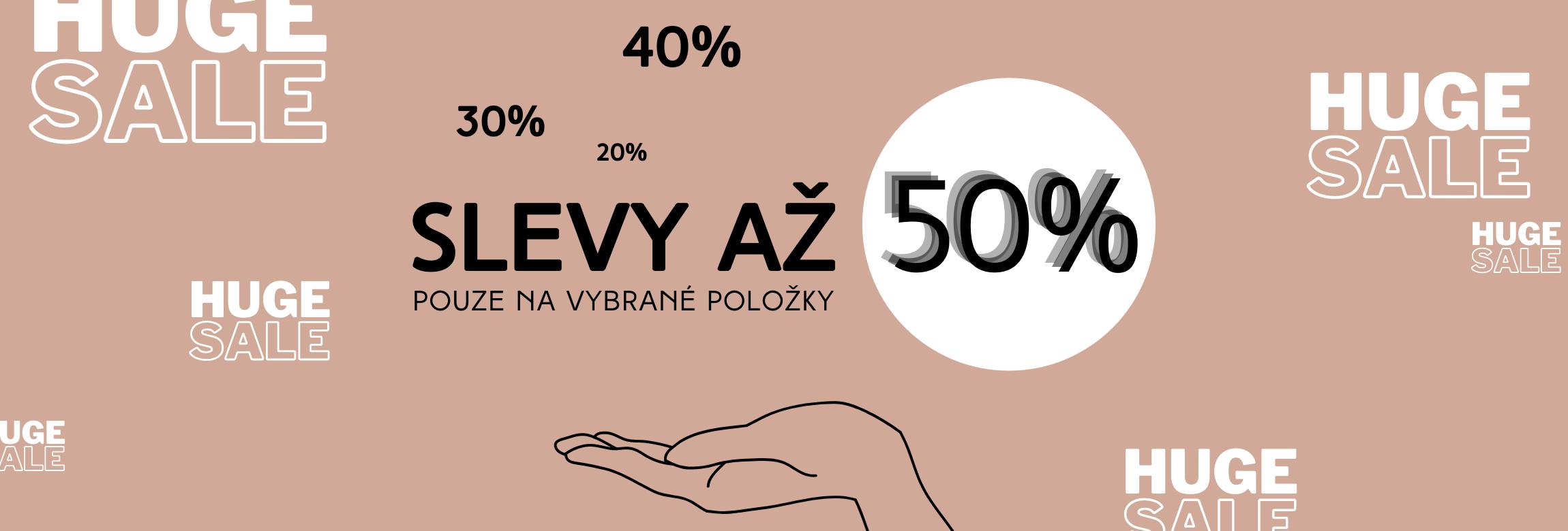 Slevy až 50%