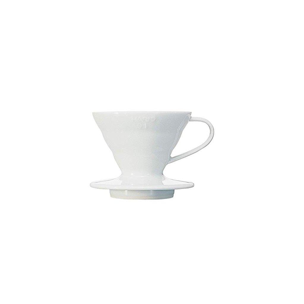 Hario V60-01 Ceramic Coffee Dripper White