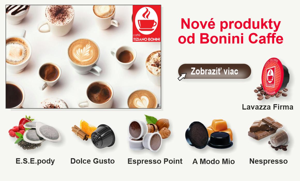 Nové produkty od Bonini Caffe