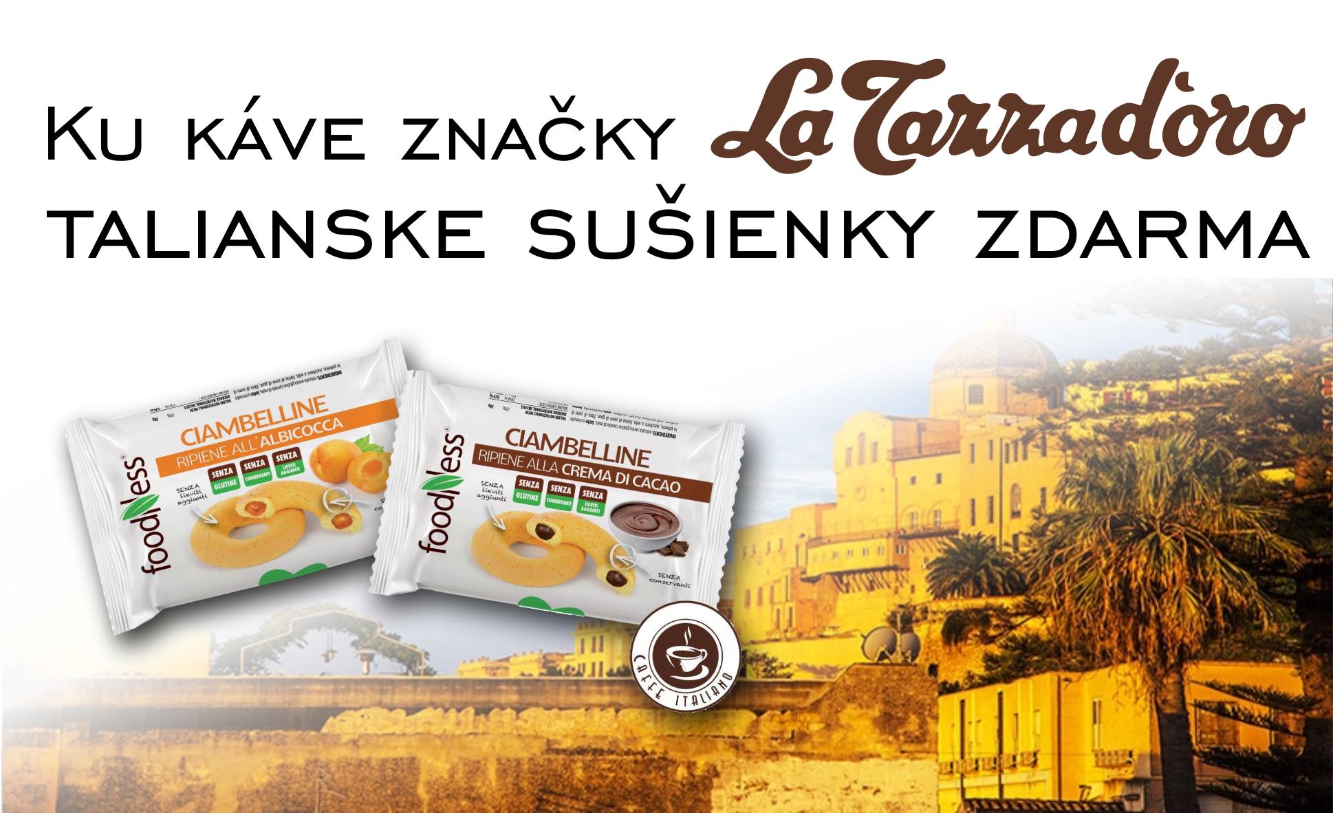 Darček ku káve La Tazza d Oro: prémiové talianske sušienky