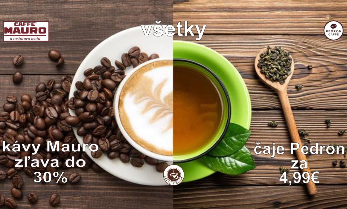 Akcia káva Mauro a čaj Pedron