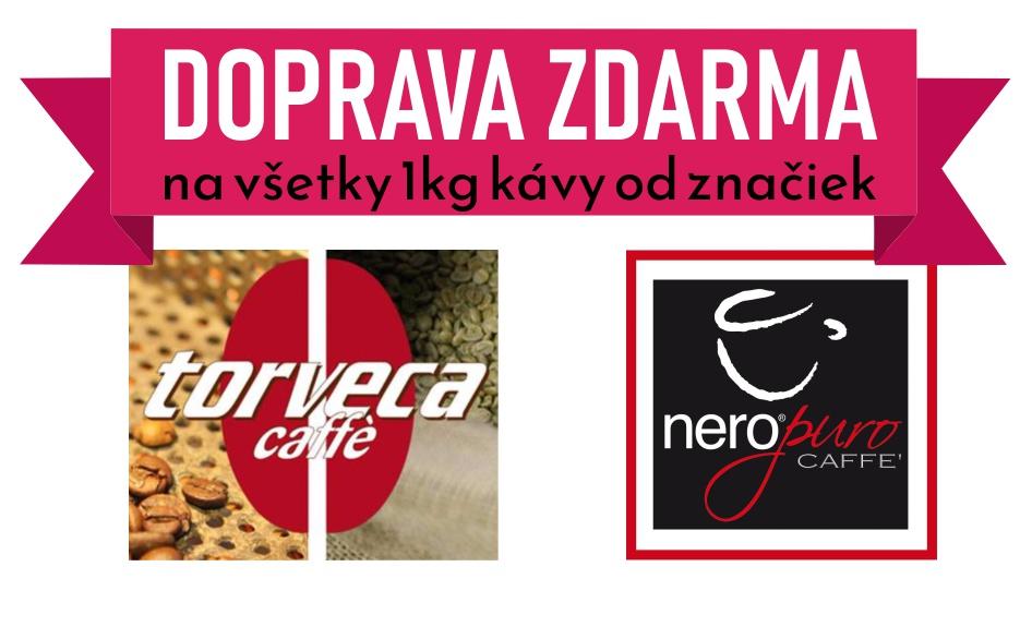 Doprava zdarma na kávy od Torveca a NeroPuro