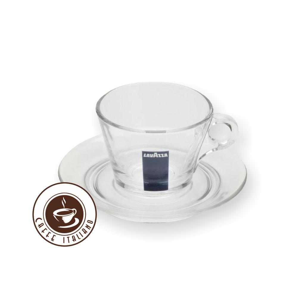 Lavazza sklená šálka na Cappuccino s podšálkou 160ml