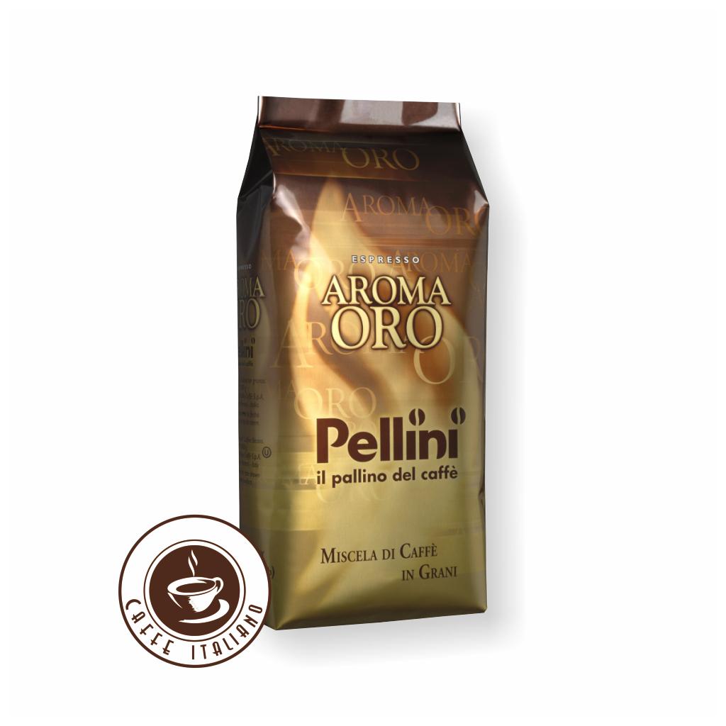 pellini aroma oro gusto intenso 1kg zrnkova kava 80arabica 20robusta logo caffeitaliano