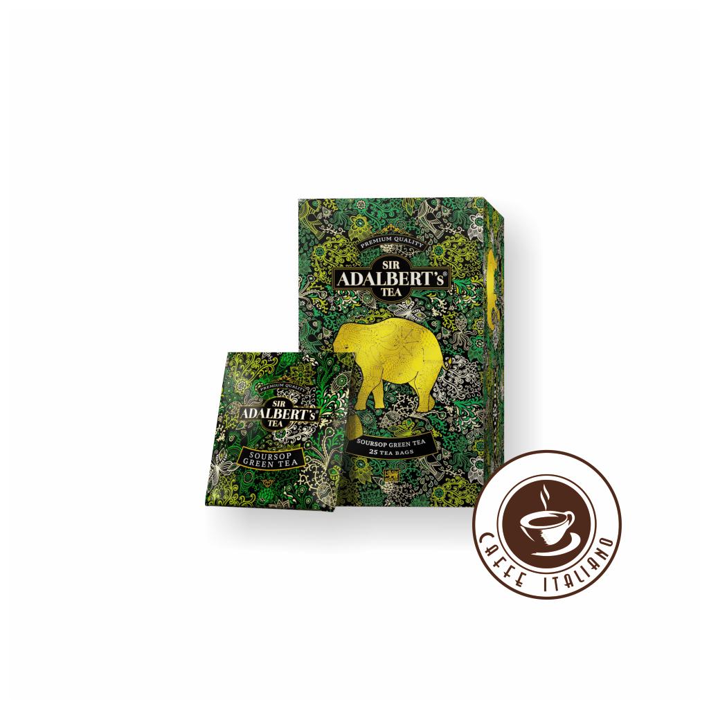 Sir Adalbert's Soursop Green Tea porciovaný čaj 25 ks