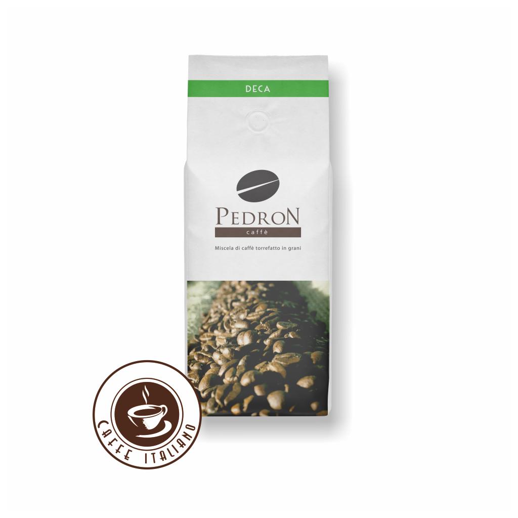 Pedron DECA bezkofeínová zrnková káva 1kg