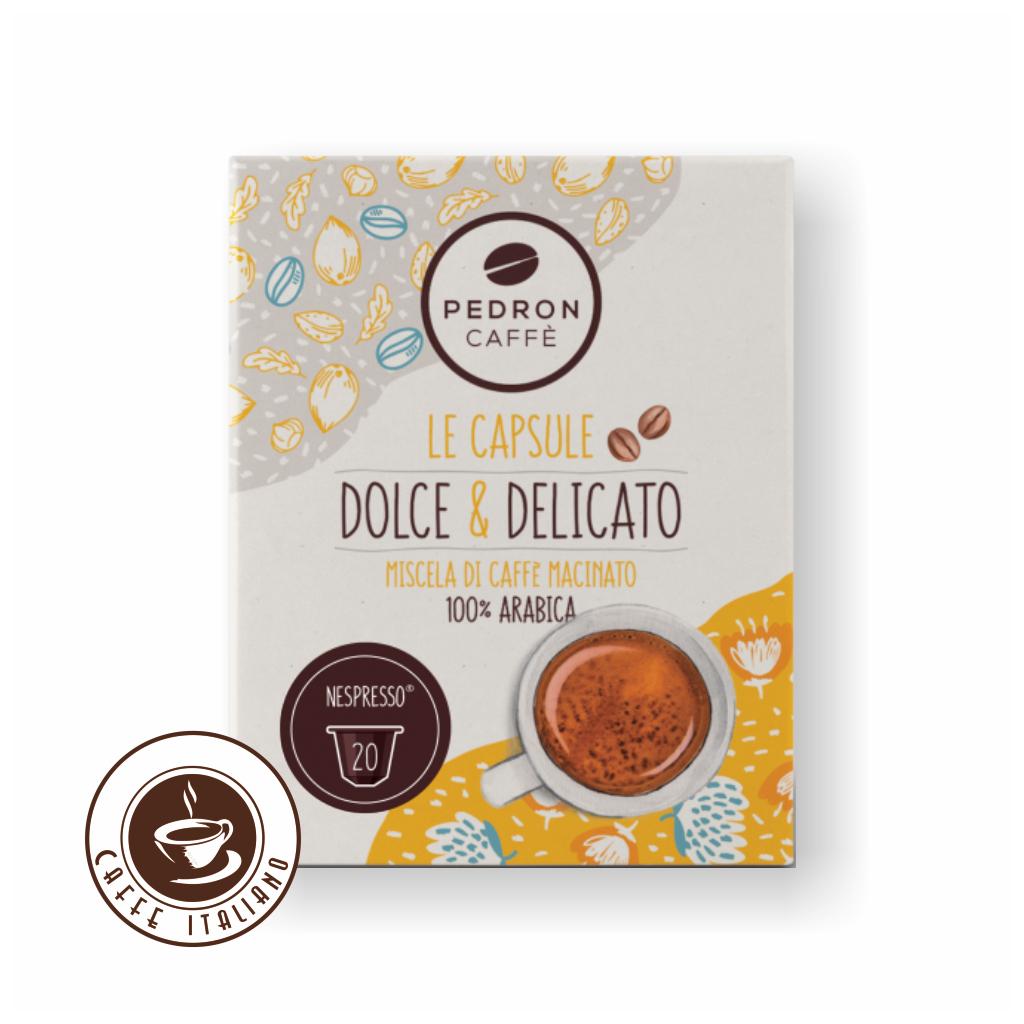 Pedron DOLCE & DELICATO 100% Arabica Nespresso kapsule 20ks
