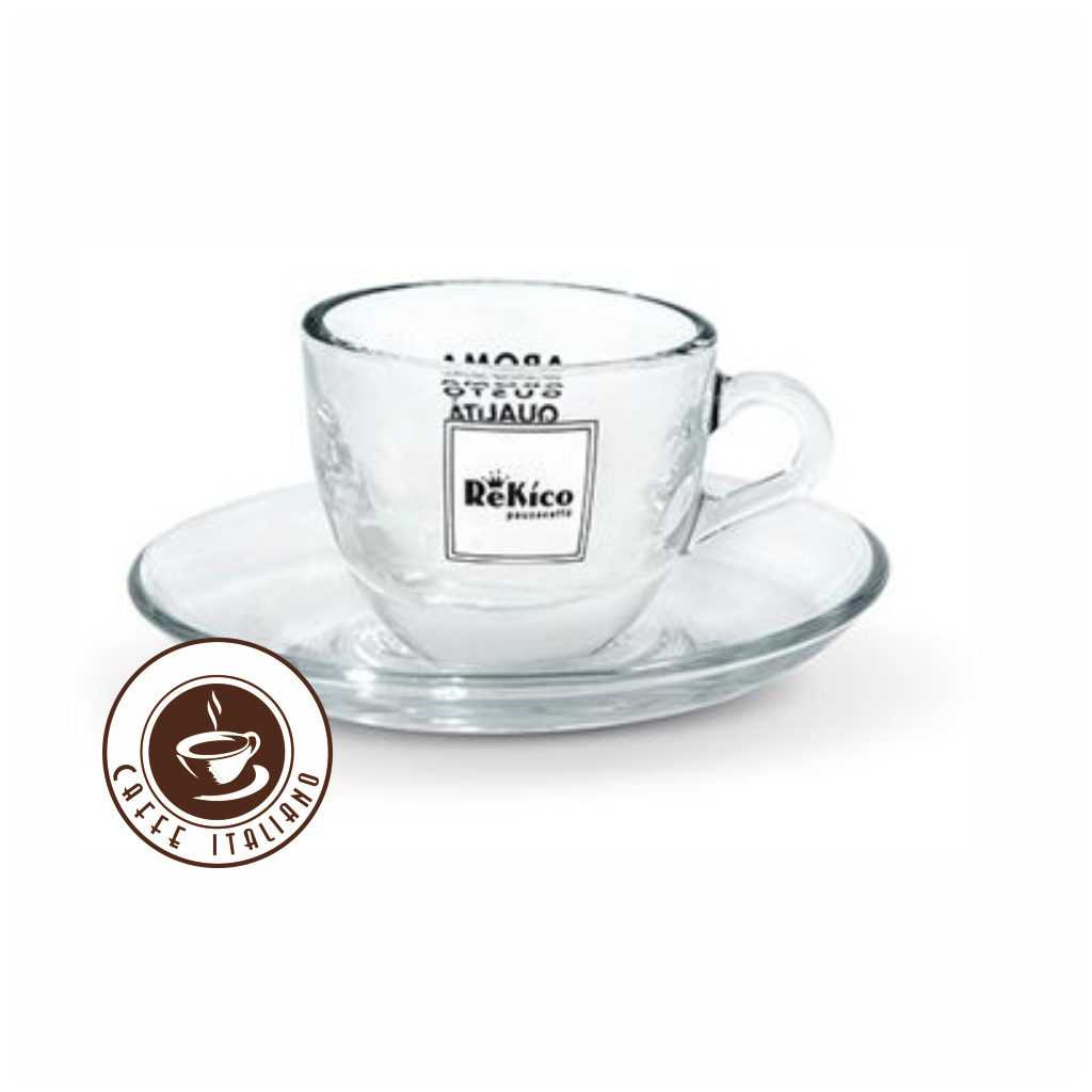 Rekico sklená šálka na Espresso s podšalkou 75ml