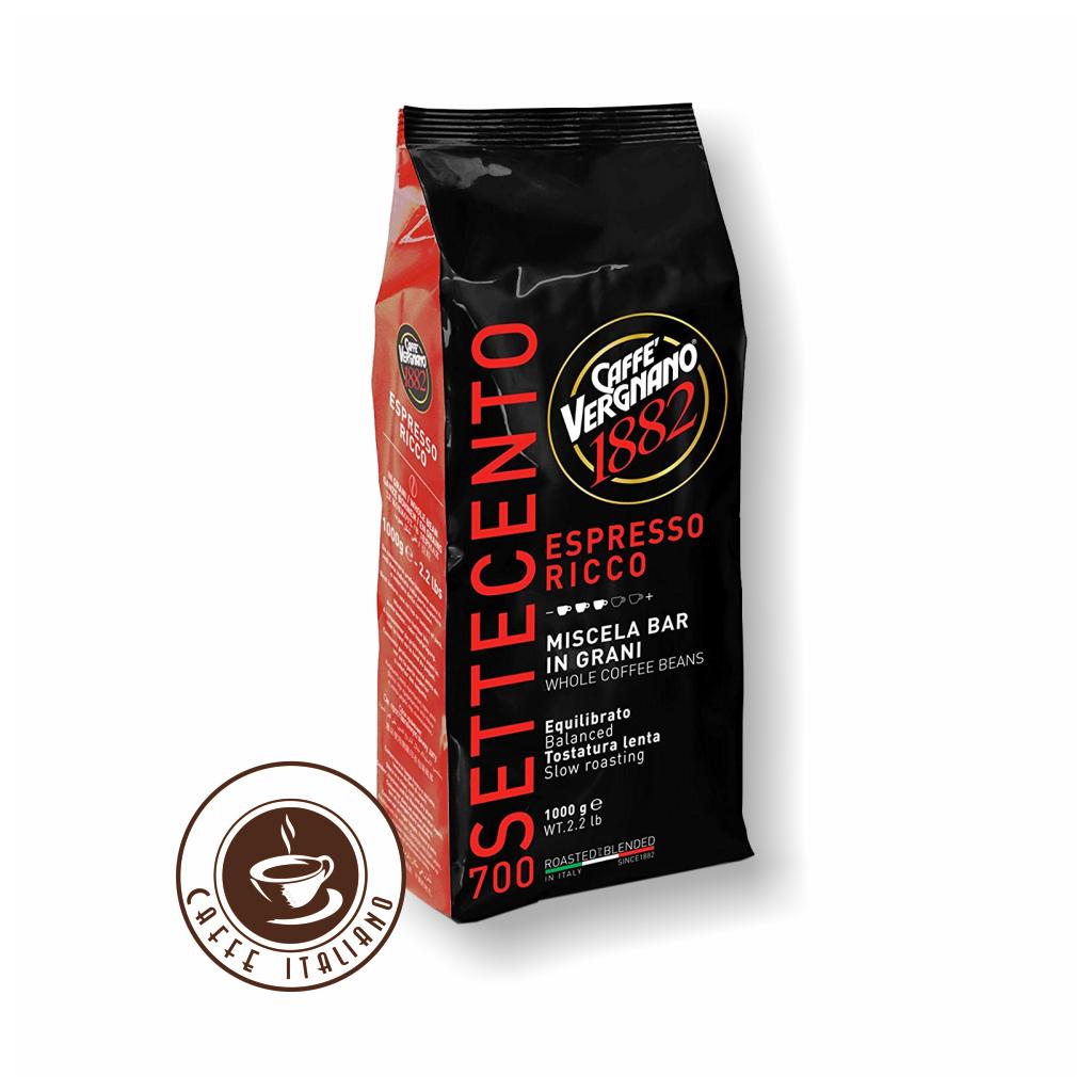Vergnano Espresso Ricco 700 1kg zrnková káva