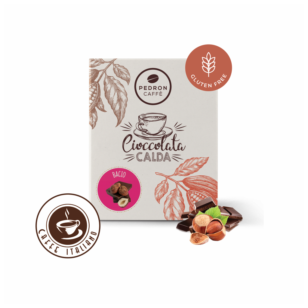 Horúca čokoláda Pedron - Lieskový orech a tmavá čokoláda, 20x30g porciovaná