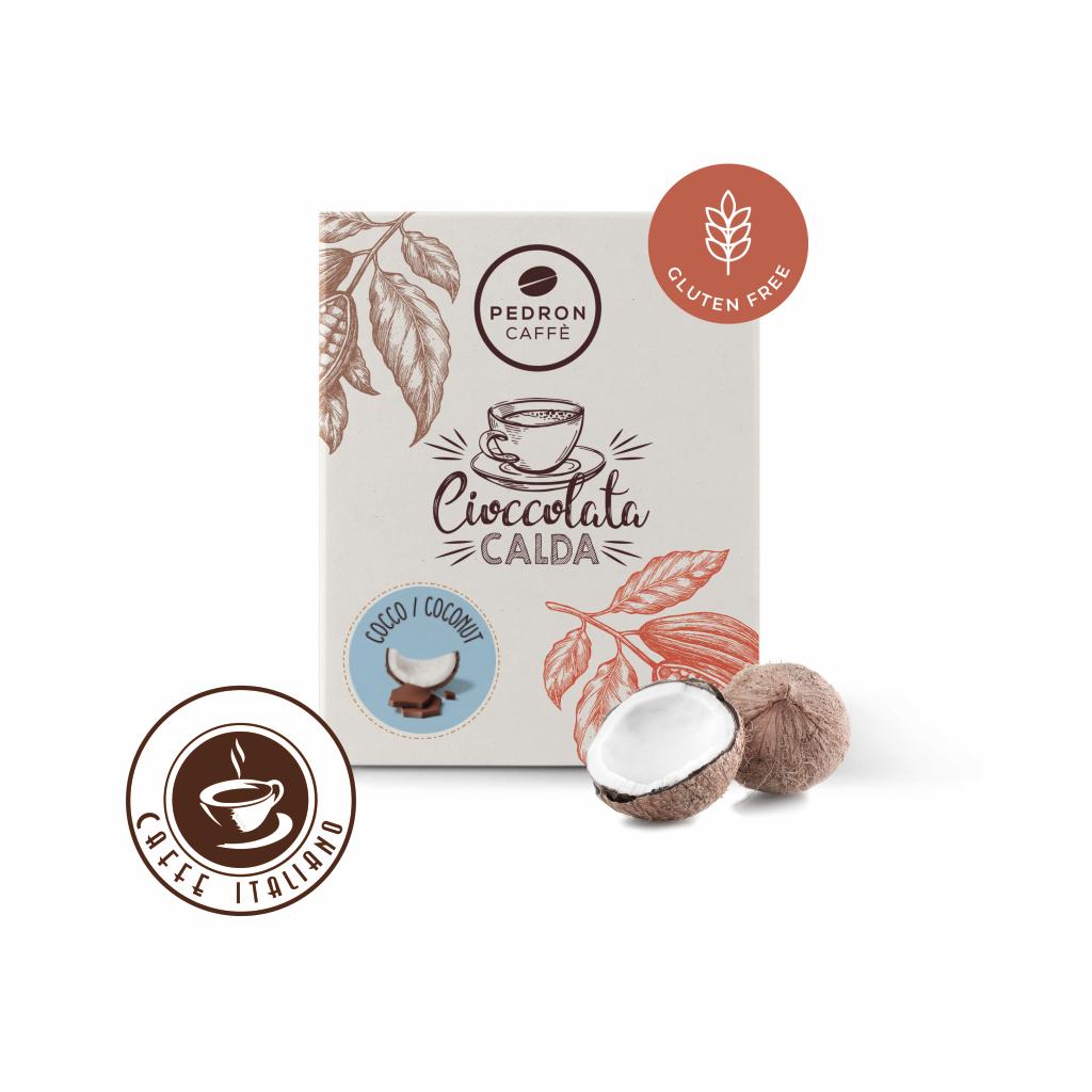 Horúca čokoláda Pedron - Kokos, 20x30g porciovaná