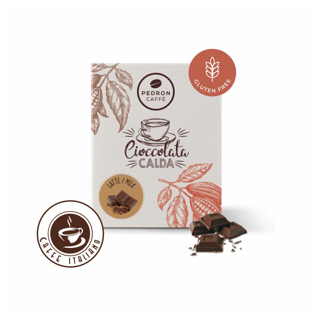 Horúca čokoláda Pedron - Mliečne latte, 20x30g poriciovaná
