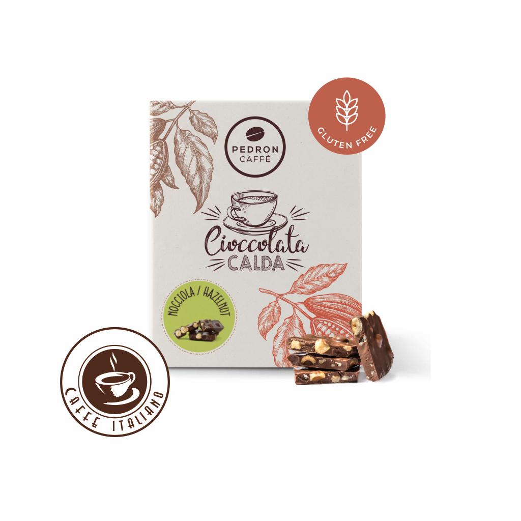 Horúca čokoláda Pedron - Lieskový orech a mliečna čokoláda, 20x30g porciovaná