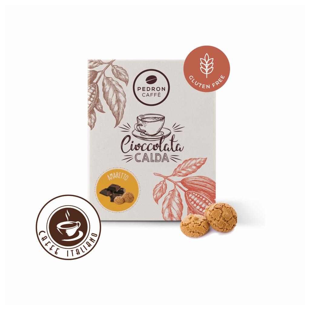 Horúca čokoláda Pedron - Amareto - mandľový likér, 20x30g porciovaná