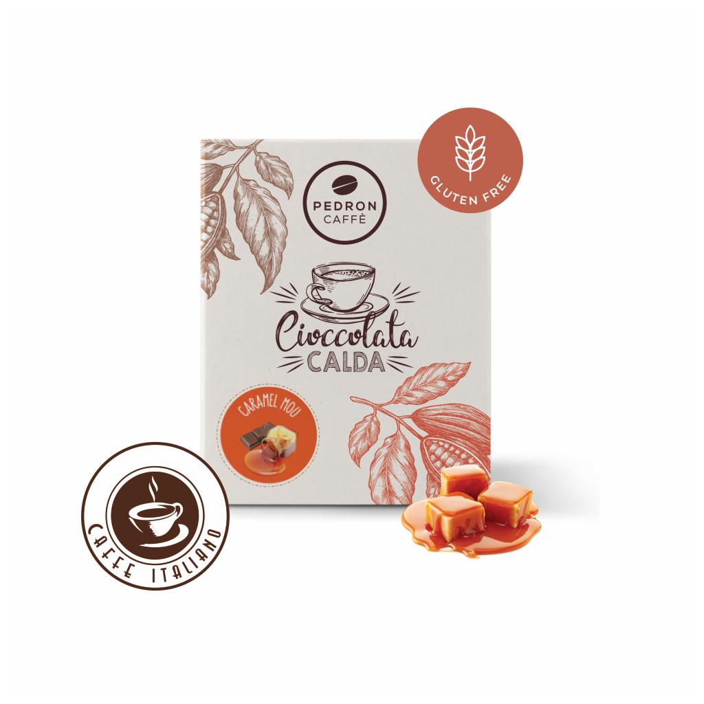 Horúca čokoláda Pedron - Karamel, 20x30g porciovaná
